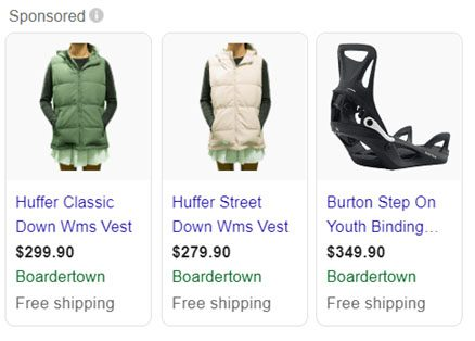 Google Smart Shopping Snippets